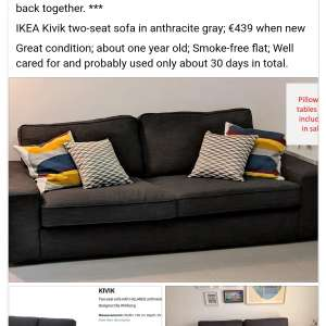 Sale of sofa